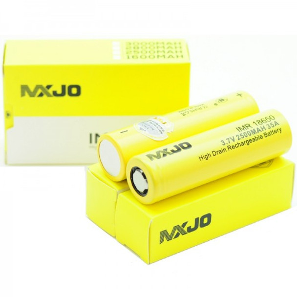 MXJO IMR 18650 2500mAh 35A 3.7v Battery Flat-Top