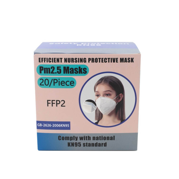 Disposable Face Mask Safety Protection KN95 - 20 Pieces