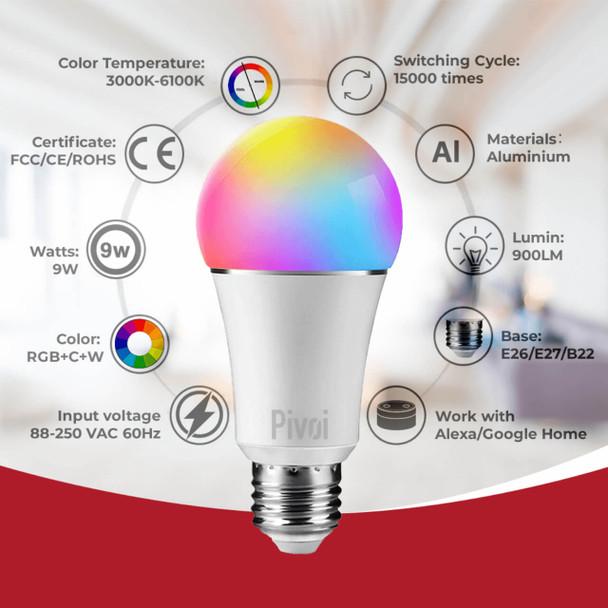 Pivoi Smart WIfi 9W Bulb