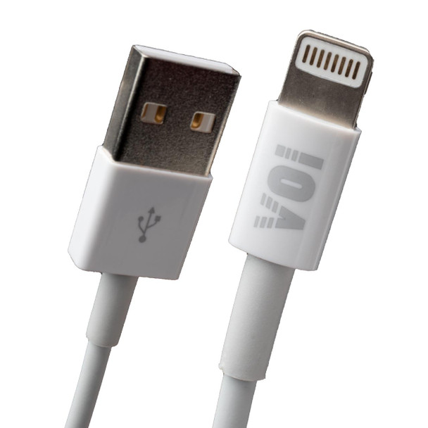 VOI USB to Lightning Charge & Sync Cable,3.3FT, White (Pack of 6)