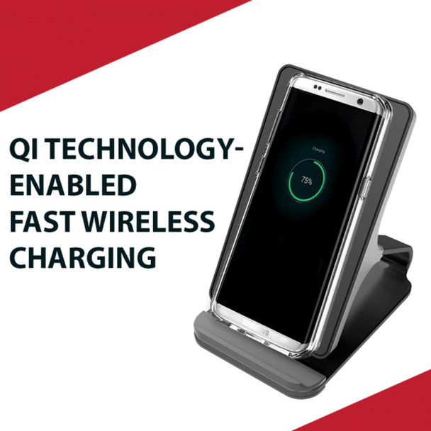 Pivoi 10W Qi-Certified Fast Wireless Charger Stand (Pack of 1)