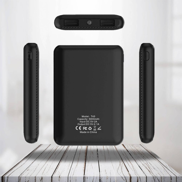 Pivoi 5000mAh Portable Charger With Dual USB Port