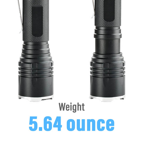 Pivoi 15W LED Tactical Flashlight, IP44 Water Resistant, Zoom focus, Metal body, 1000 Lumens