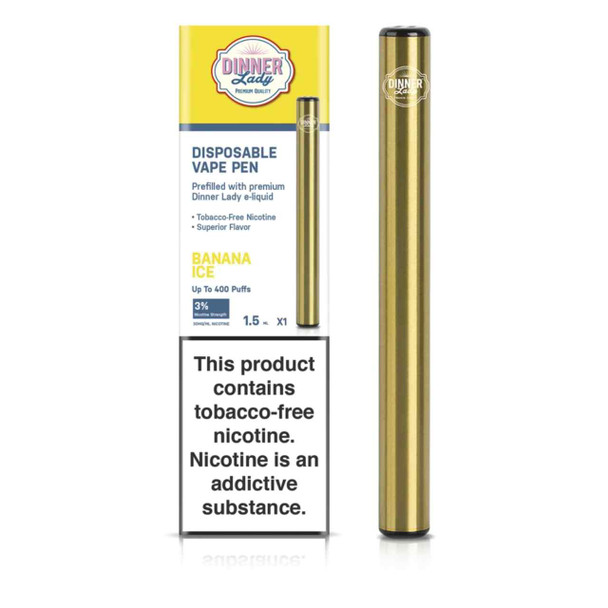 Dinner Lady Banana Ice Disposable Vape Pen