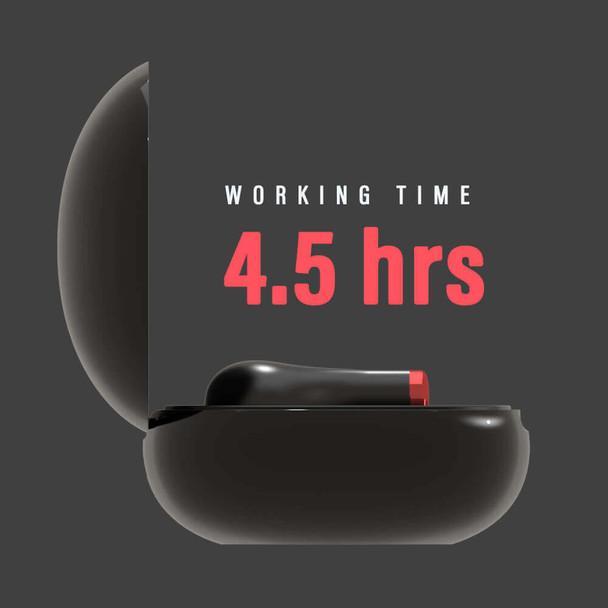 Pivoi True Wireless Earbuds, 4.5 Hours Playtime