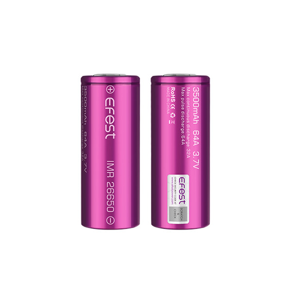 Efest 26650 3500mAh 64A IMR Battery (Pack of 2)