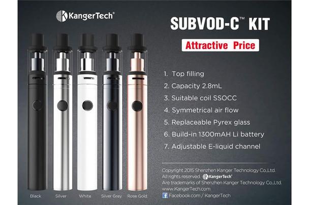 Kanger SUBVOD-C + TOPTANK NANO-C Tank Starter Kit