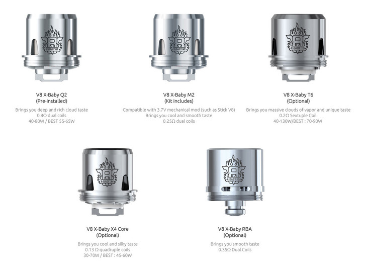 Smok TFV8 X-Baby Coils (Pack of 3)