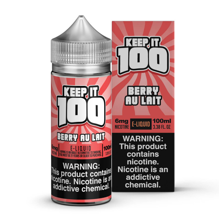 Strawberry Milk E-Liquid 100ml by Keep it 100 eJuice