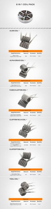 GeekVape 6-in-1 Prebuilt Coils