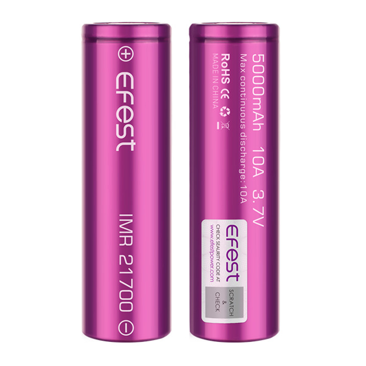 Efest 21700 5000mAh 10A IMR Battery (Pack of 2)