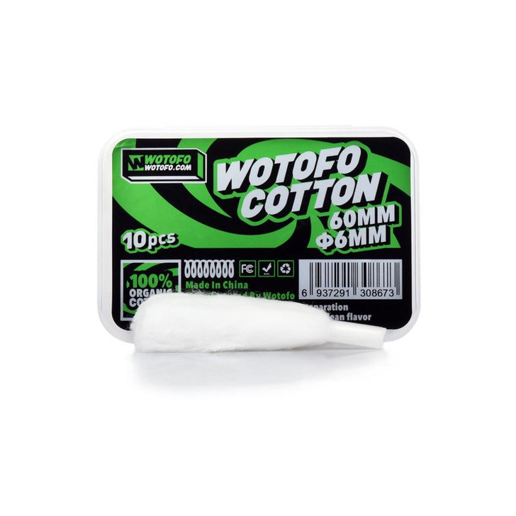 Wotofo Profile Agleted 6mm Organic Cotton (Pack of 10)