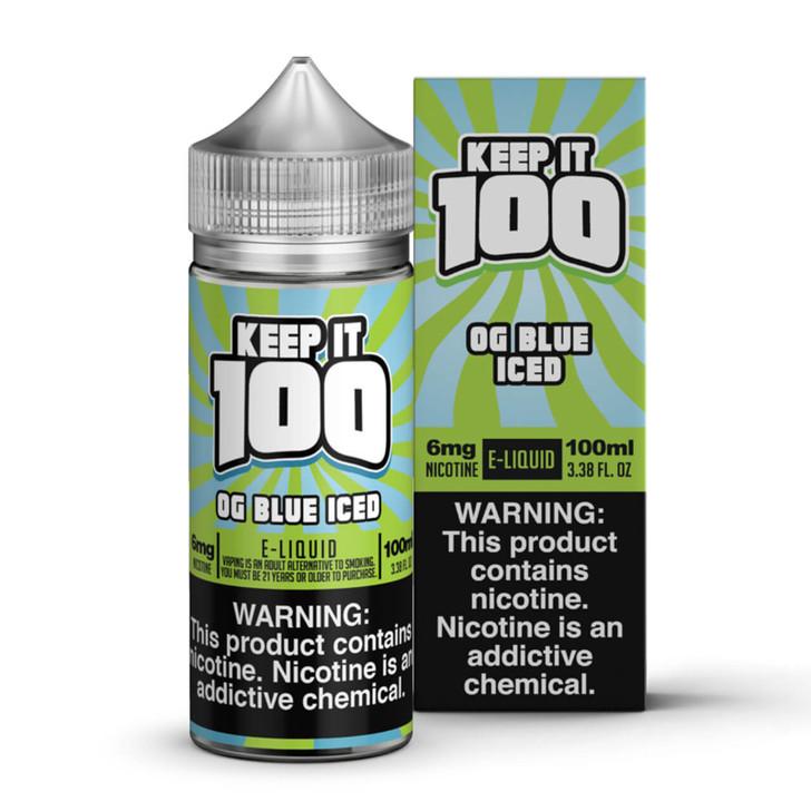 Blue Slushie Iced E-Liquid 100ml by Keep it 100 eJuice