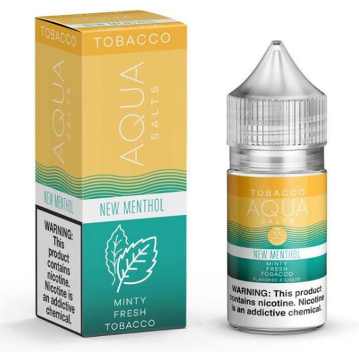 New Menthol Salts eJuice by Aqua Salts Tobacco E-Liquid 30ML