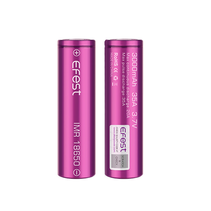 Efest 18650 3000mAh 35A IMR Battery (Pack of 2)