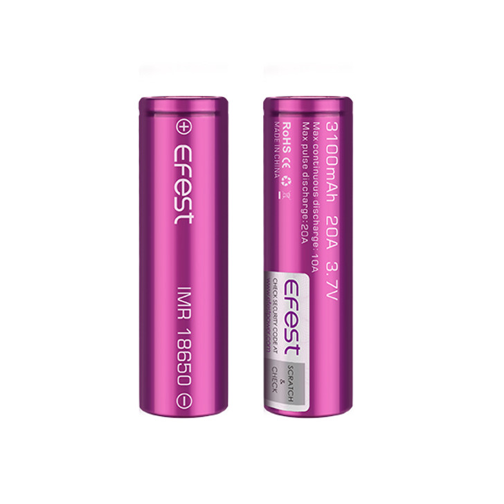 Efest 18650 3100mAh 20A LiMn Battery (Pack of 2)