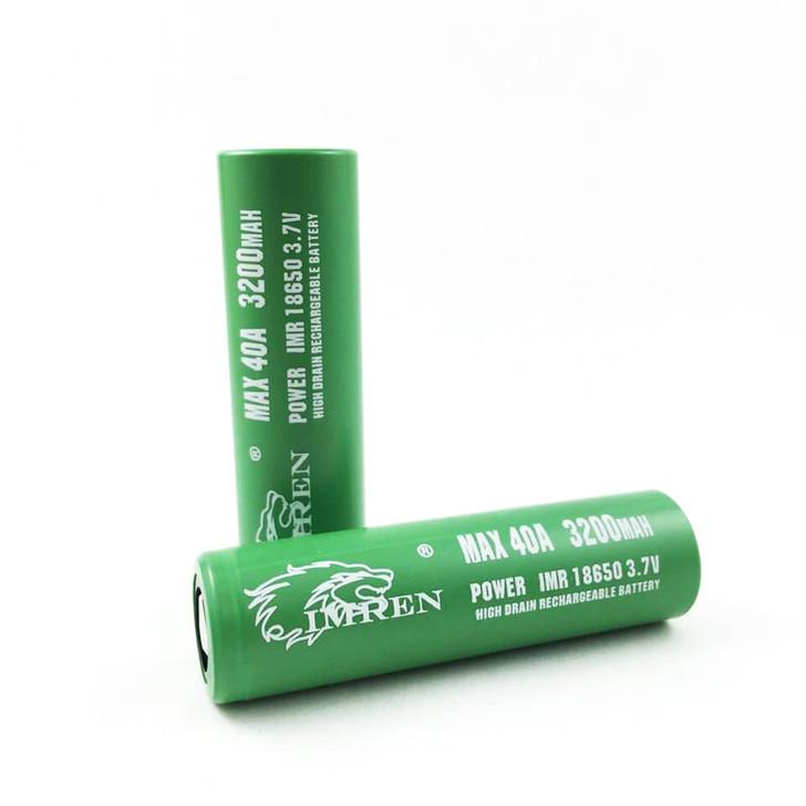 Imren 18650 3200mAh 40A IMR Battery (Pack of 2)