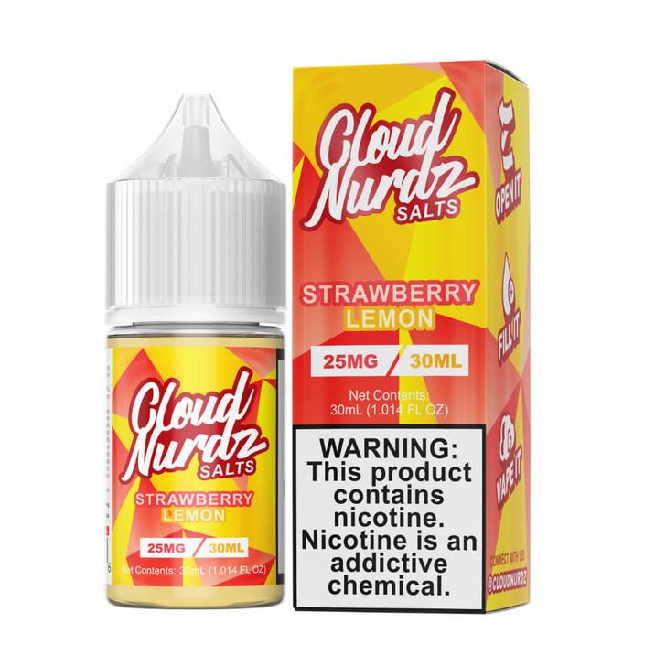 Cloud Nurdz Salts Strawberry Lemon 30ml E-Juice