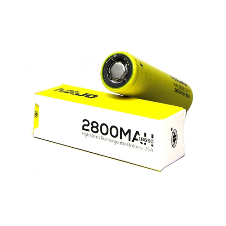 MXJO IMR 18650 2800mAh 35A 3.7v Battery Flat-Top