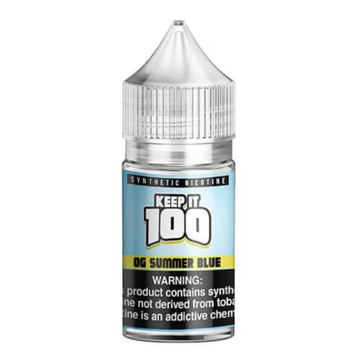 Keep it 100 OG Summer Blue Salt Synthetic Nicotine 30ml E-Juice