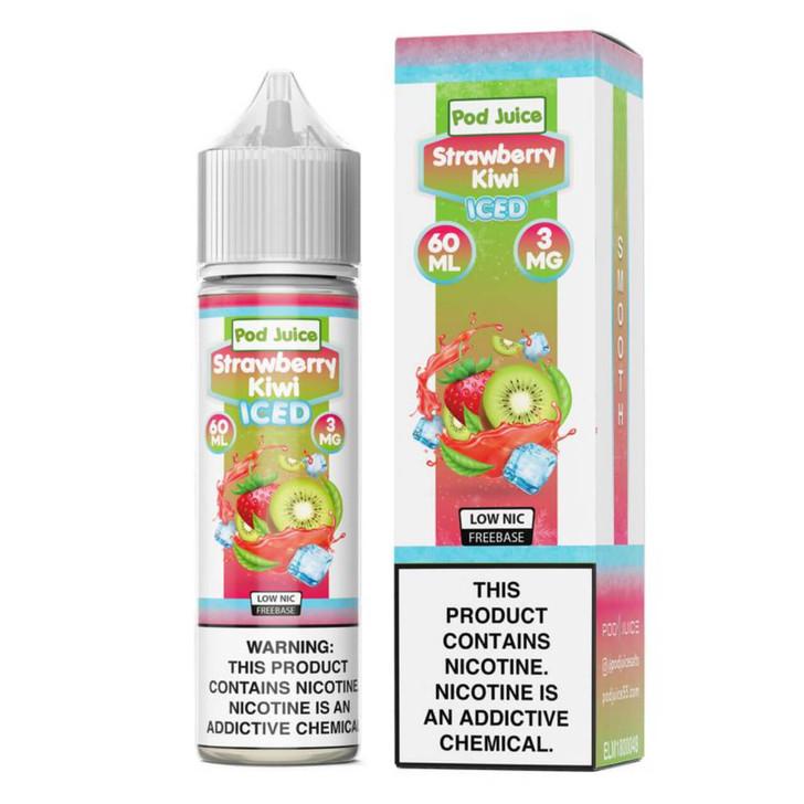 Pod Juice Strawberry Kiwi Iced 60ml E-Juice