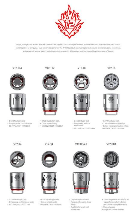 Smok TFV12 Coils (Pack of 3)