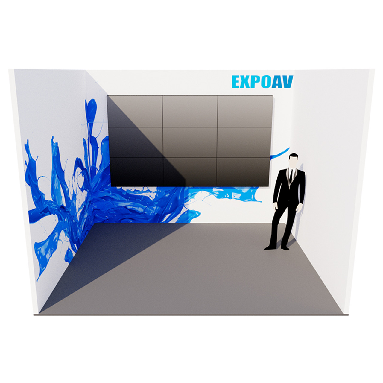 Exhibition Stand Equipment Hire : Azure exhibition stand u shaped expoav rent is a london audio