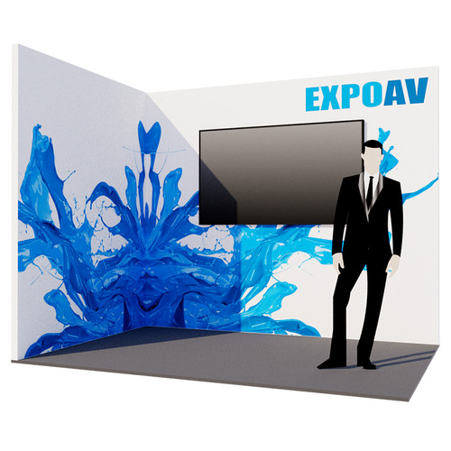 Sapphire Exhibition Stand - L-Shaped with Screen