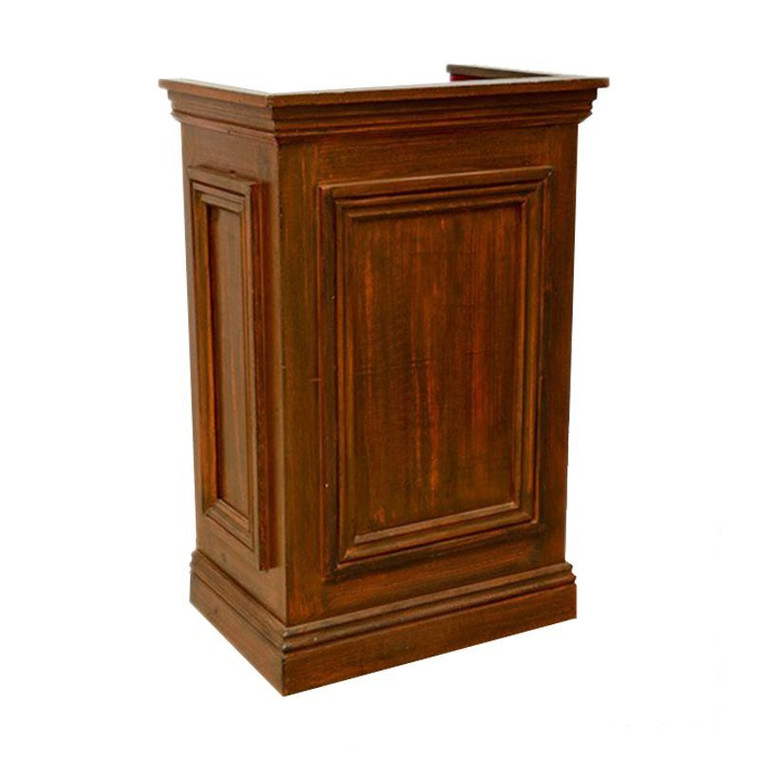 Antique wooden lectern hire for exhibitions.