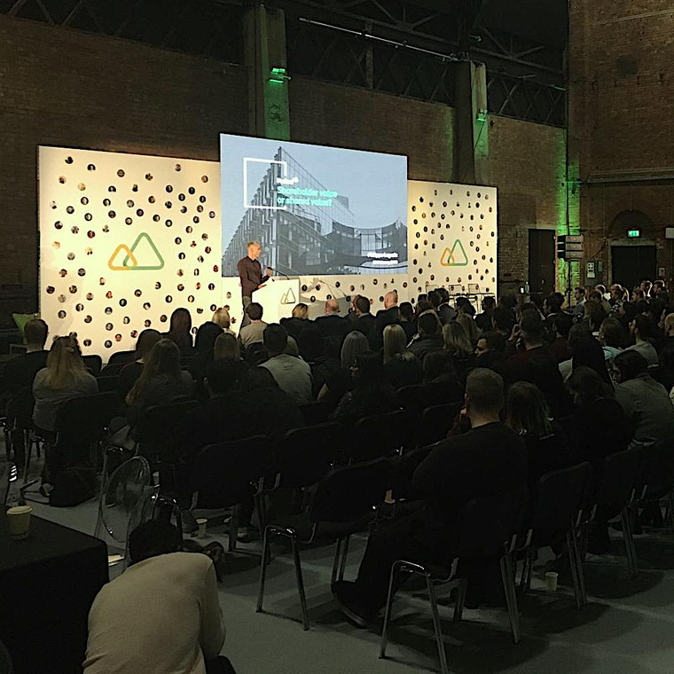 LED Wall hire for event in London using our hi Res LED screen along with seamless textile branding and av.