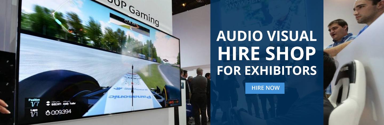 Audio Visual Hire Shop For Exhibitors. Hire Now.
