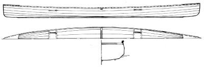 """20' x 28"""" Marathon Asymmetric Canoe Plans"""