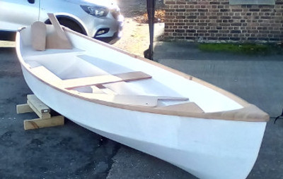 """15'2"""" Oarsome Plywood Skiff Plans"""