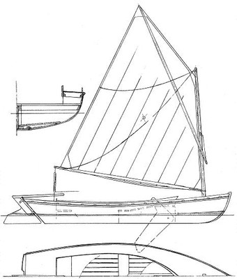 """13'4"""" Selway Fisher Melonseed Skiff Plans"""