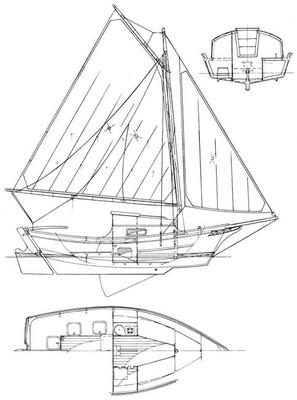 20' Fisher Skipjack Plans