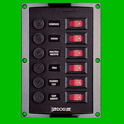 Seadog Illuminated 6 Fuse/Switch Panels