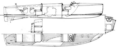 """24'6"""" Snipe Runabout Plans"""