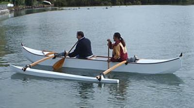 18' Waka Ama Hawaiian Canoe