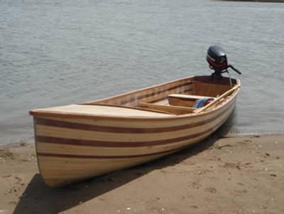 12-16' Strip Planked Motor Canoe Plans
