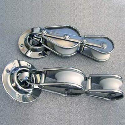 """7/16"""" (11mm) Racelite Swivel Base Fiddle Deck Blocks"""