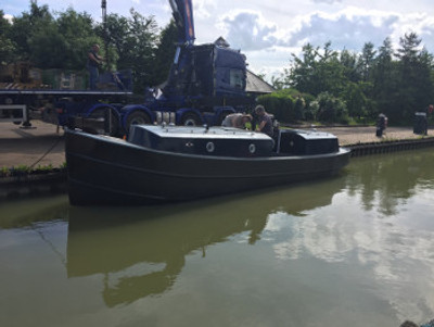 "32' x 6' 9"" Steel Canal Tug Plans"