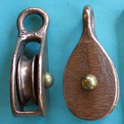 "5/16"" (8mm) Bronze Fast Eye Pulleys"