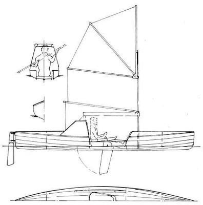 """18'6"""" Ocean Crossing Kayak Plans"""