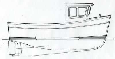 Mylor 27' Strip Planked Fishing Boat Plans