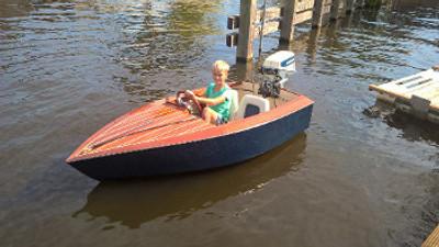 8' Skiffle Junior Motor Boat Plans