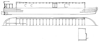 57' Avoncliff Wide Beam Barge Plans