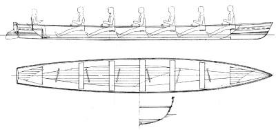 Thames 32' Clinker, Strip Planked or FRP Skiff Plans