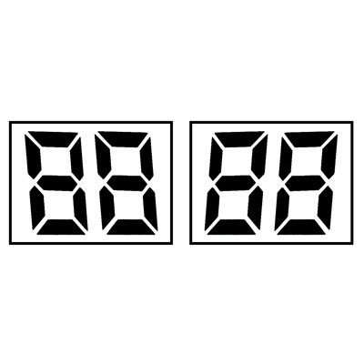 2 X 88 Digital Sail Numbers