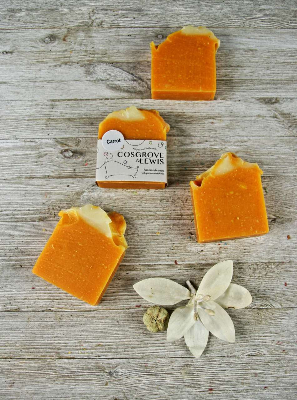 Carrot Soap - 4 5oz Bar (+- 5oz)