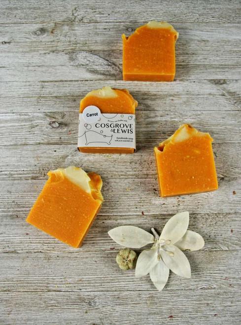 Carrot Soap - 4.5oz Bar (+-.5oz)